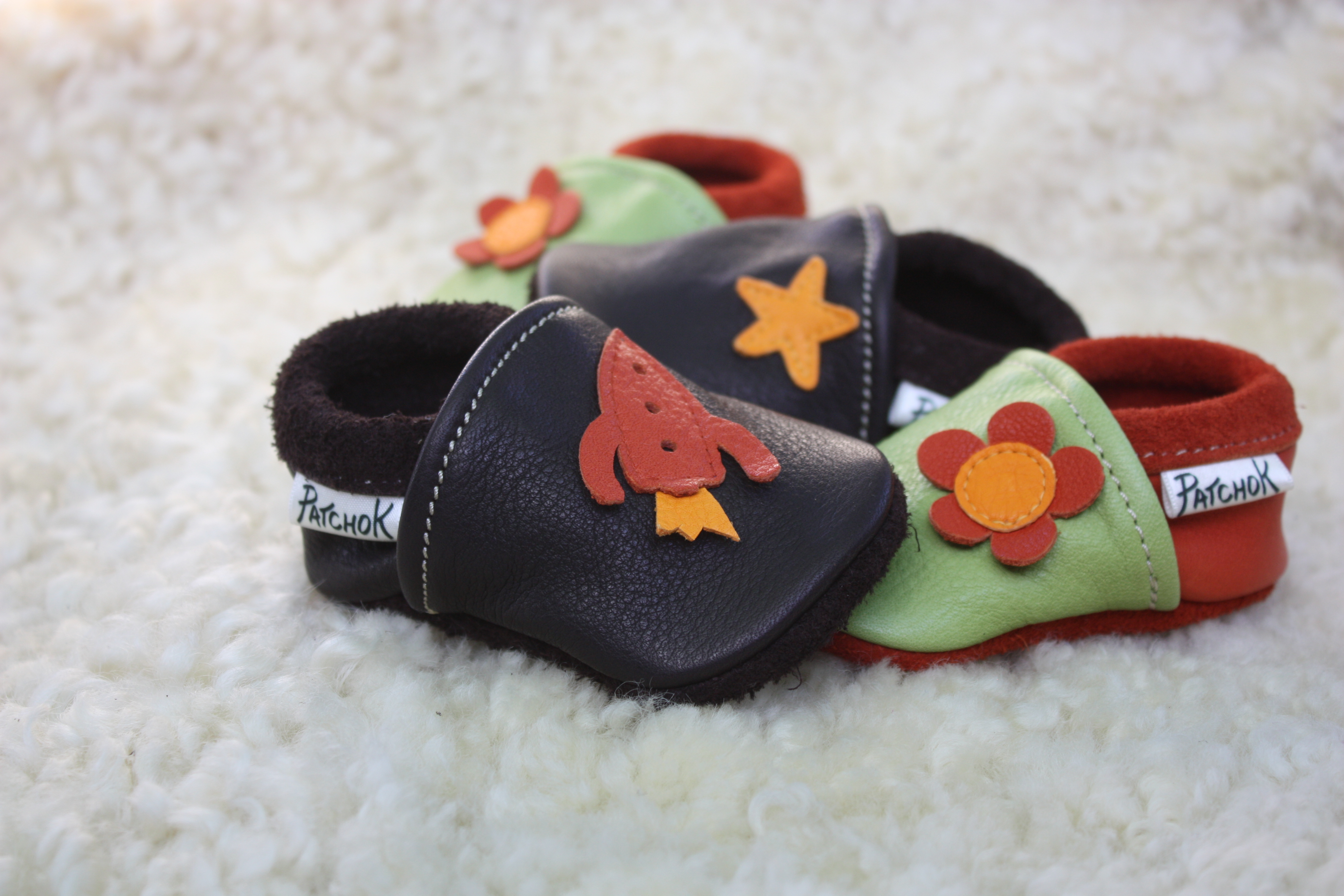 Chaussons cuir souple bébé