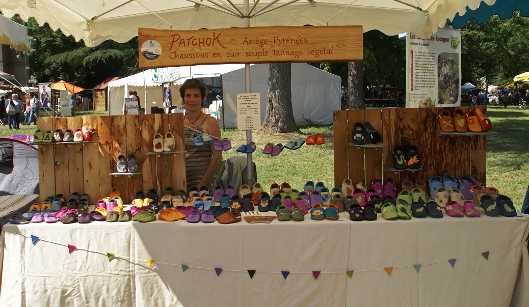 Chaussons en cuir artisanat made in France