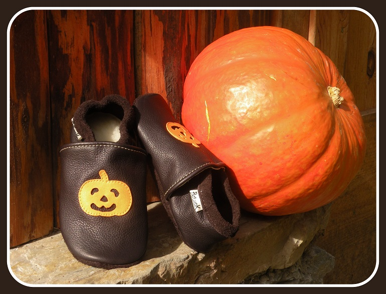 Chaussons cuir halloween