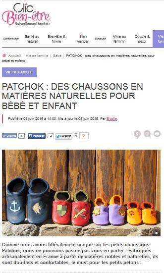Patchok sur le blog clic bien être