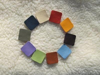 Echantillons de cuir ecologique patchok