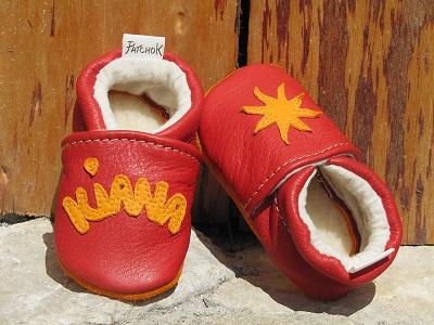 chaussons Patchok avec prénom