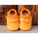Mocassins en cuir naturel pour bébé
