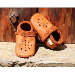 Chaussons en cuir pour bébé, modèle MANDALA