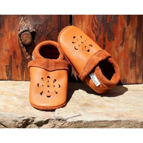 chaussons en cuir pour bébé été