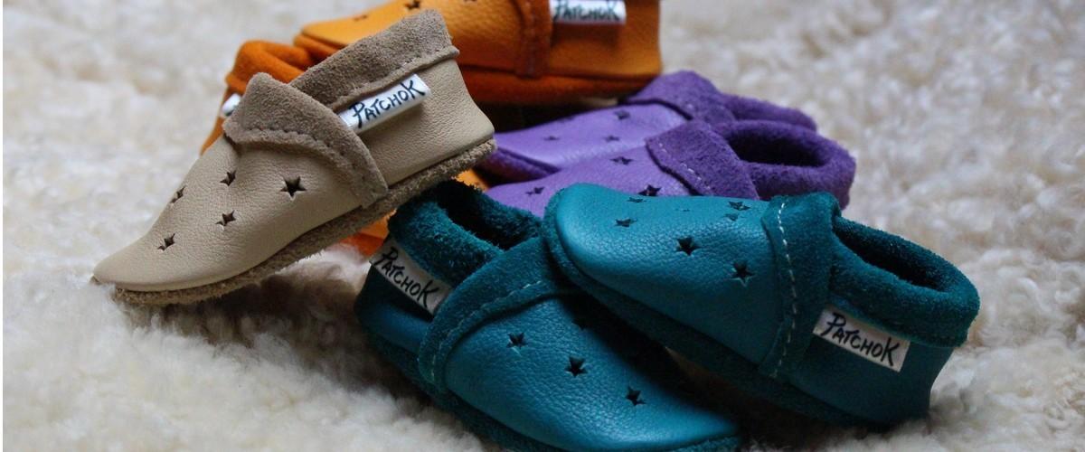 Chaussons sandales en cuir pour bébé
